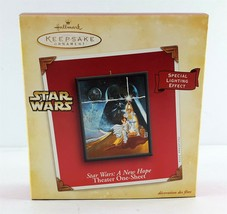 Hallmark Star Wars Ornament A New Hope Theater One-Sheet Lighting Effect... - $14.84