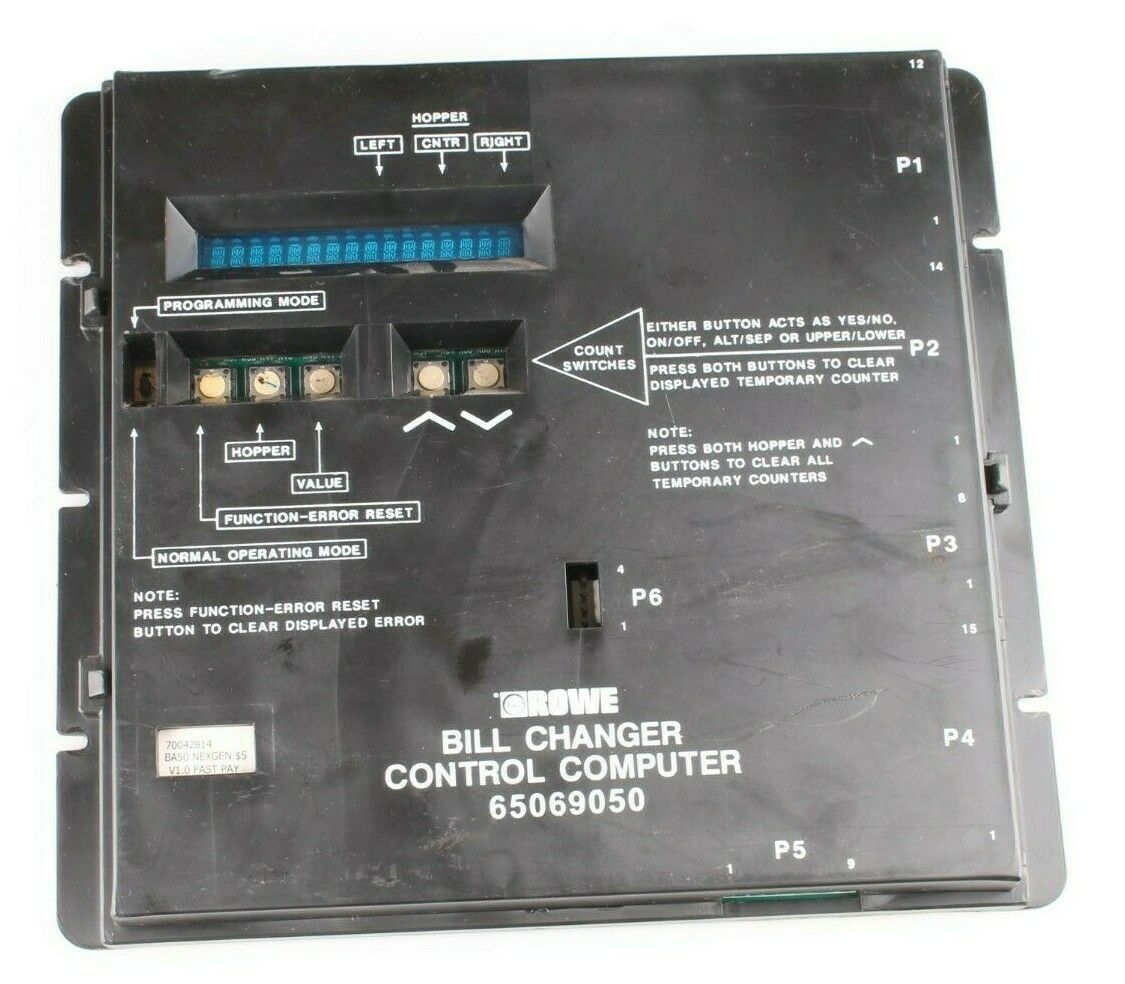 Rowe Bill Changer Control Computer P/N: 65069050 [Used]