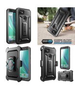 Google Pixel 2 XL Case Rugged Holster Cover Built-in Screen Protector Bl... - $27.46