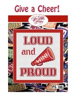 Give A Cheer Loud And Proud cheerleader Post Stitches cross stitch chart Sue Hil - $5.40