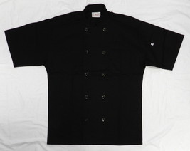 Chef Coat Jacket Uncommon Threads 415 Restaurant Uniform S/S Black M New - $24.47