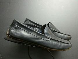 Men's Born Black Waxed Leather Driving Shoe Loafer Sz. 9,5M MINT! - $28.50