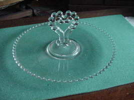 Candlewick Crystal Center Handled Serving Tray, Imperial Glass Co - $19.99