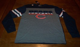 Vintage Style Chicago Bears Nfl Football Long Sleeve T-Shirt Medium New w/ Tag - $24.74