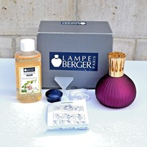 LAMPE BERGER Catalytic Fragrance Lamp Purple Gold Cap Honeysuckle Fragra... - $83.30