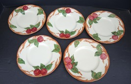 Five Vintage Franciscan Bread and Butter Plates - Apple Pattern - $11.40