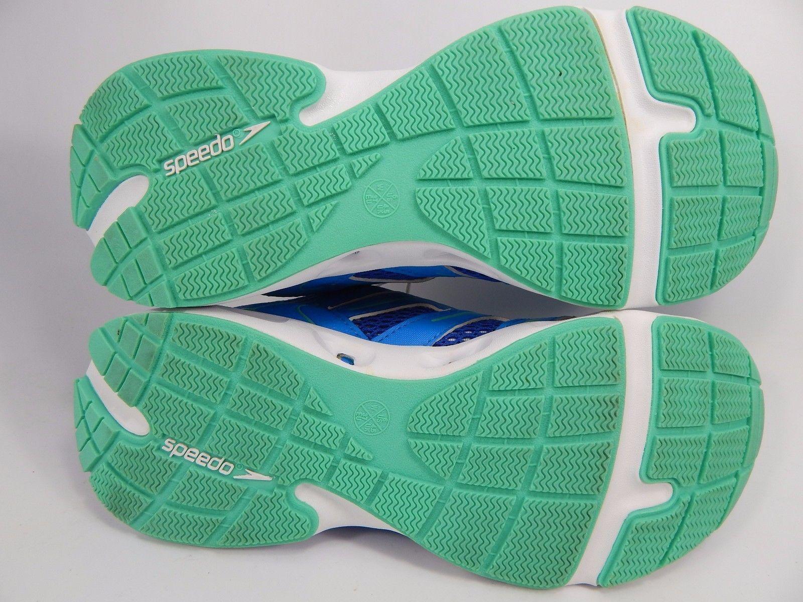 Speedo Comfort Women's Water Shoes Size US 6 M (B) EU 37 Blue White E00045