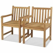vidaXL Teak 2x Outdoor Chair Wooden Patio Lawn Backyard Seat Garden Furn... - $203.99