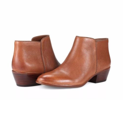 3eb044ab62a81 12. 12. Previous. Sam Edelman Brown Tan Leather Petty Chelsea Ankle Boots  Bootie 8.5W new