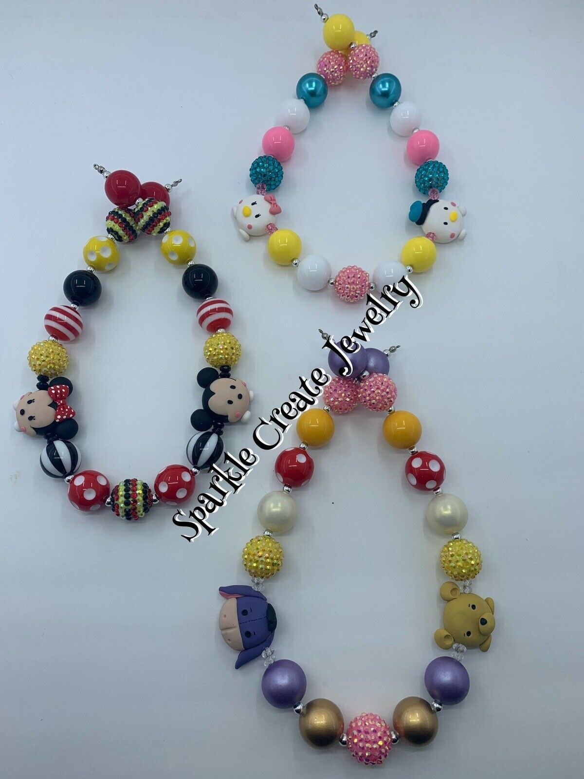 LIMTED EDITION: Disney Tsum Tsum Clay Chunky Bubblegum Necklace