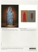 ABSOLUT BHARTI KHER and ABSOLUT ANISH KAPOOR Transform Today Magazine Ad... - $9.99