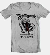 WhitesnakeTour T-shirt 80's heavy metal classic rock grey cotton retro style tee image 2