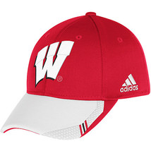 Adidas NCAA College WISCOUNSIN BADGERS Football Curved Hat Cap Size L/XL - $20.00