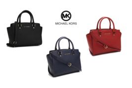 MICHAEL KORS Selma Medium Top Zip Satchel Bag for Woman with Free Gift - $205.00