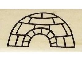 Penguin Ice Fishing and Igloo Rubber Stamps, Set of 2 image 3