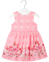 Mayoral Little Girls 2T-9 Floral Border Organza Check Social Party Dress image 1