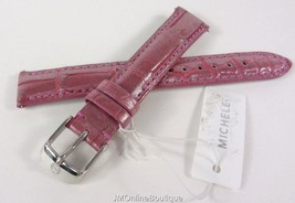 Michele MS16AA510575 16mm Orchid Ice Pink Genuine Alligator Watch Strap Band NEW - $79.99