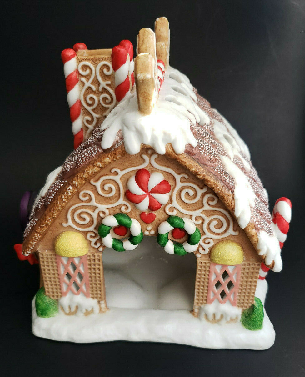 Gingerbread House Tealight Candle Holiday Village Christmas PartyLite P7304 Vtg