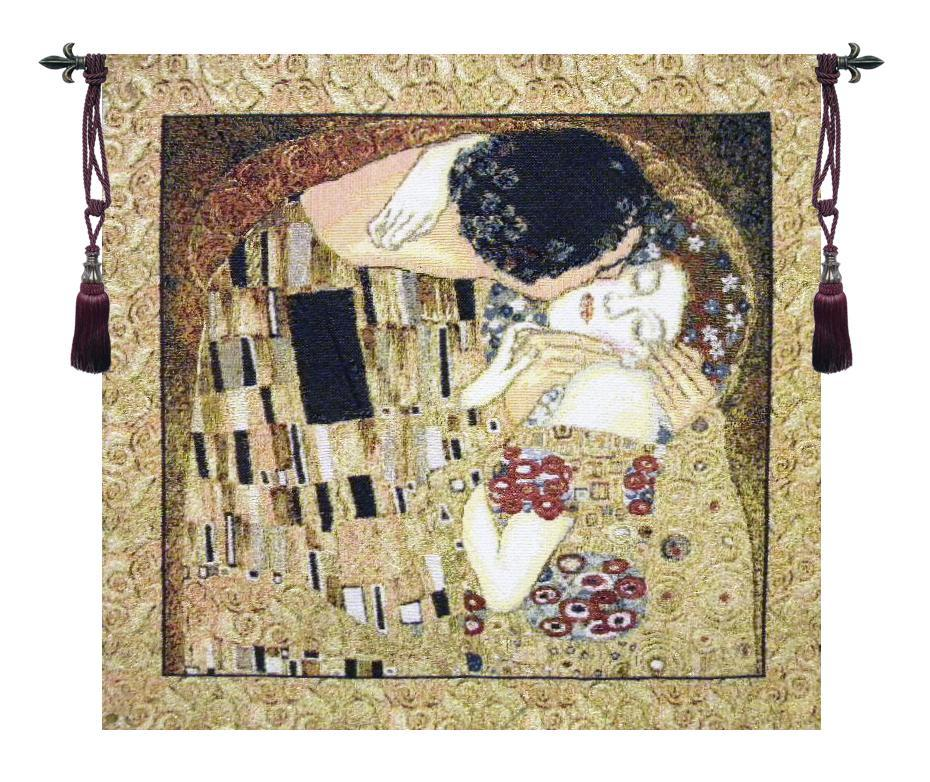 The Kiss Klimt Tapestry Wall Hanging