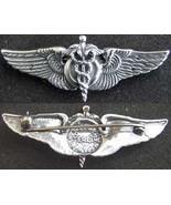 WWII Flight Surgeon Wings Luxenberg Sterling Silver   - $65.00