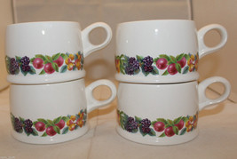 Wedgwood Hereford Set of 4 Flat Coffee Tea Mug Cups Made in England Oven... - $57.53