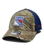 New York Rangers New Era 39THIRTY Realtree NHL Flex Fit Hockey Cap Hat - $23.95