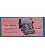 INK BLOTTER 1950s  - MONROE Calculating Machine 10 Column Bakersfield Ca... - $4.49