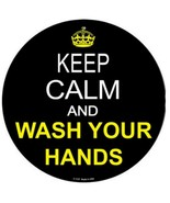 """Keep Calm and Wash Your Hands Novelty Metal Circle Sign 12"""" Wall Decor - DS - $21.95"""