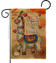 Don't Forget to Smile Burlap - Impressions Decorative Garden Flag G135092-DB - $22.97
