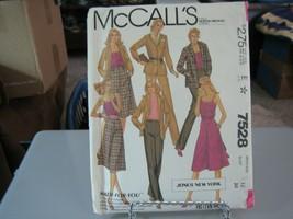 McCall's 7528 Misses Jacket, Cami, Culottes & Pants Pattern - Size 12 Bu... - $8.90