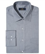 $53 Club Room Estate Wrinkle Resistant Grey Solid Dress Shirt, 15.5 32/33. - £14.19 GBP