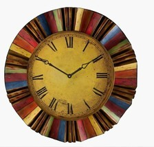 "Colors Art Large 30"" Oversized Round Wall Clock, Modern Industrial, Quar... - $118.78"