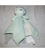 New Cloud Island Green Bear Lovey Security Blanket Knit 14 Inch Baby Uni... - $9.89