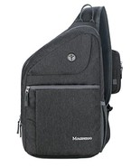 Sling Backpack for Men and Women Bag - Mouteenoo (Dark Grey) - $38.24