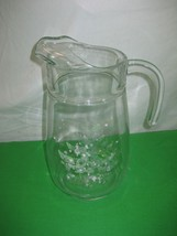 Christmas Tree Glass Water Pitcher Clear Pressed Glass - $9.46