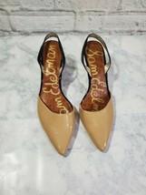 Sam Edelman Heels Womens 9 1/2M Brown Tan Slinback Pointed Toe - $29.54