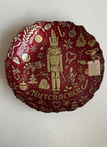 AKCAM Christmas The Nutcracker Serving Bowl Gold Red Glass Christmas Orn... - $44.99