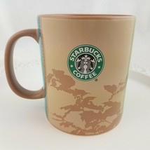STARBUCKS Story of Manolo Africa Map Green Brown Coffee Mug Cup African 2006 - $29.68