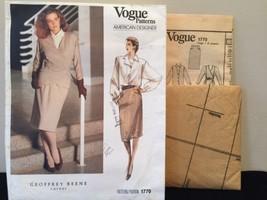 Vogue American Designer Geoffrey Beene Jacket, Skirt,Blouse Size 14 Patt... - $18.00