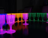 Assorted neon blacklight wine glasses4 thumb155 crop