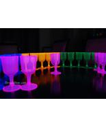 Assorted neon blacklight wine glasses4 thumbtall