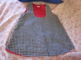 """Vintage 60's BENCO TOG black white corduroy girls jumper 24"""" bust - $6.99"""
