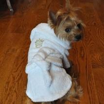 White Gold Crown Cotton Dog Bathrobe   (Boys) - $49.99