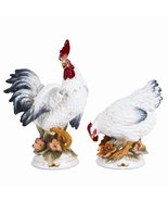 Fitz and Floyd Chanteclair  Rooster and Hen Figurines, Pair - $150.00