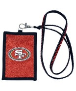 SAN FRANCISCO 49ERS BEADED LANYARD ID CREDIT CARD ZIPPER POCKET WALLET F... - $12.56