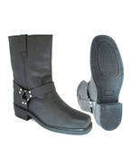 """Mens Harness Motorcycle Biker Boots 10"""" Leather Western Cowboy Rock Ridi... - $70.18+"""