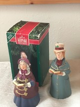 Lot of 2 Hallmark Fine Porcelain LORD CHADWICK Mrs. Beaumont Bell Tree Ornament  image 2