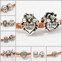 Charms 5pcs/lot 8 s Silver Big Hole European Beads - $10.99+