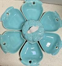 Vintage Hoenig of California / Belmar  ~ 8 pc  Turquoise / White  Apple Set - $21.78