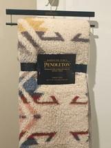 PENDLETON BEIGE CREAM SHERPA  FLEECE PLUSH TRHOW BLANKET TWON 50x70 w/Ha... - $49.49